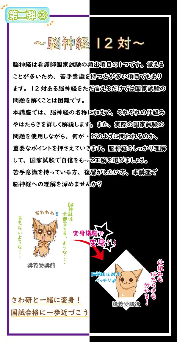 SAWAOD  秋期講習 変身講座~脳神経12対編~