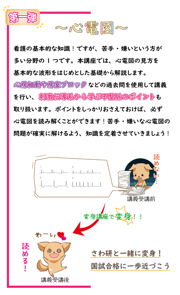 SAWAOD  秋期講習 変身講座~心電図編~