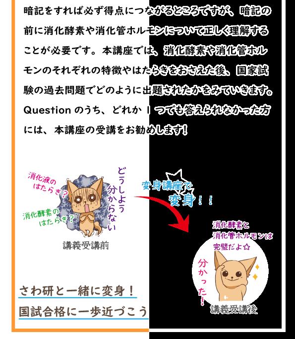 SAWAOD  秋期講習 変身講座~消化酵素・消化管ホルモン編~